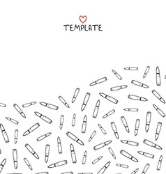 Pattern template with scattered bullets Doodle vector