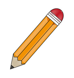 Pencil utensil ico vector