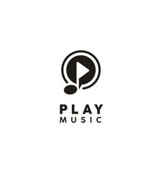 Play music video multimedia player icon app logo vector