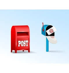 Post boxes vector image