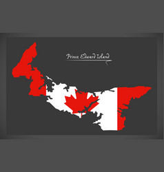 Prince edward island canada map vector