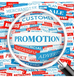 PROMOTION vector image
