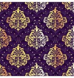 purple seamless Rococo floral vector image