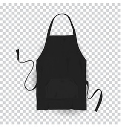 Realistic black kitchen apron vector