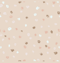 Seamless beige ink dots pattern grunge vector