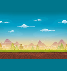 seamless mountains landscape for ui game vector image