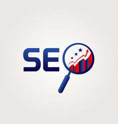 seo website internet logo symbol icon vector image