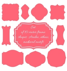 Set of ten frames vector image