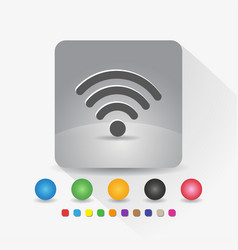 signal wifi icon sign symbol app in gray square vector image