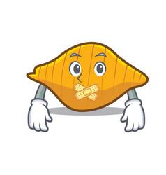 Silent conchiglie pasta mascot cartoon vector