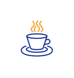 Tea or coffee line icon hot drink sign vector