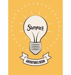 Typographic retro summer poster vector image