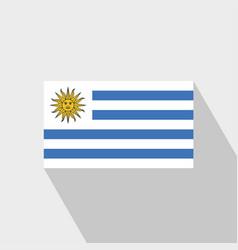 Uruguay flag long shadow design vector