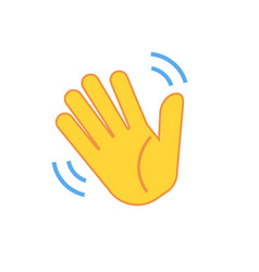 Weaving hand icon isolated on white background vector