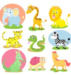 Wild animal set vector