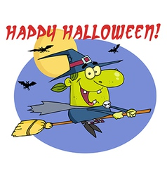 Witch cartoon vector