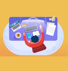 workplace desk vector image