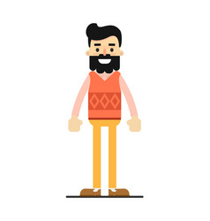 Young brunet hipster in sweater and pants vector