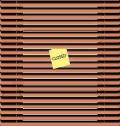 zhaluzi wood vector image