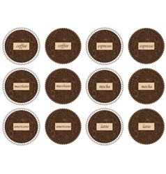Coffee labels vector image vector image
