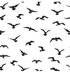 flying birds tiled pattern freedom sign vector image vector image