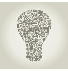 Office a bulb vector image