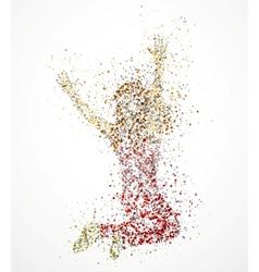 Paint splatter dancing girl vector image