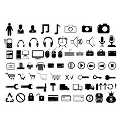 various icons on a white background vector image