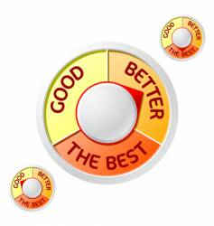 good better the best rating vector image