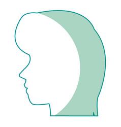 profile head woman human female avatar vector image