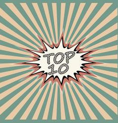 top ten banner vector image