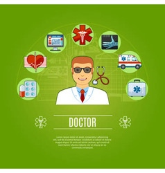 Doctor Concept Icons Set vector image vector image