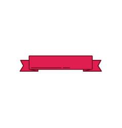 Red ribbon banner ornament decoration design vector