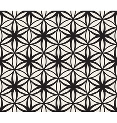 Seamless Black and White Flower of Life vector image