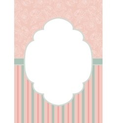 Stripes and roses on pink vector