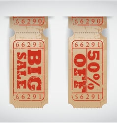 Vintage Sales Ticket vector image