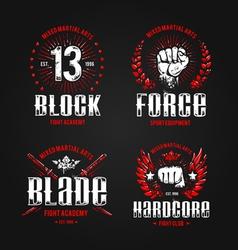 Grunge Fightclub Prints 1 vector image vector image