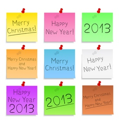 Happy New Year and Merry Christmas vector image