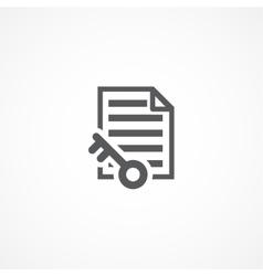 Keywords Icon vector image vector image