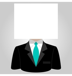 Man with a white paper sheet on the head vector image vector image
