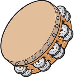 Tambourine vector image vector image