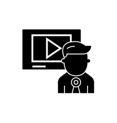 video marketing - video channel - news icon vector image vector image