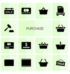 14 purchase icons vector