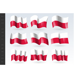3d waving flag poland isolated on white vector image