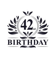 42 years birthday logo 42nd birthday celebration vector