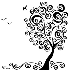 Abstract background with tree vector