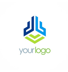 Abstract building business logo vector