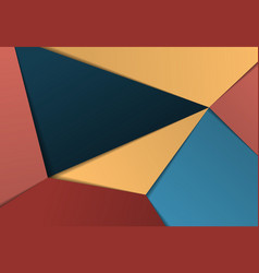 Abstract gradient colorful paper cut design vector