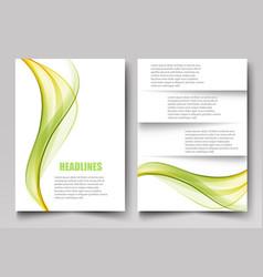abstract template design brochuresflyersreport vector image