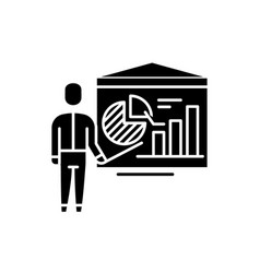 accounting analysis black icon sign on vector image
